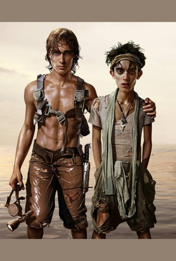 Плакат паспарту - Флин и Тони вертикален